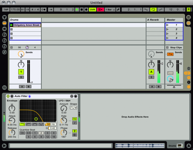 how to open up tracks in ableton