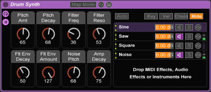 Drum Synth Screenshot